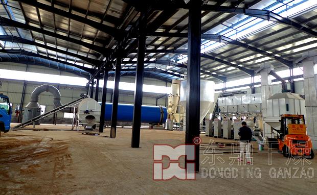 湖南京德能源三筒木屑烘干机生产线